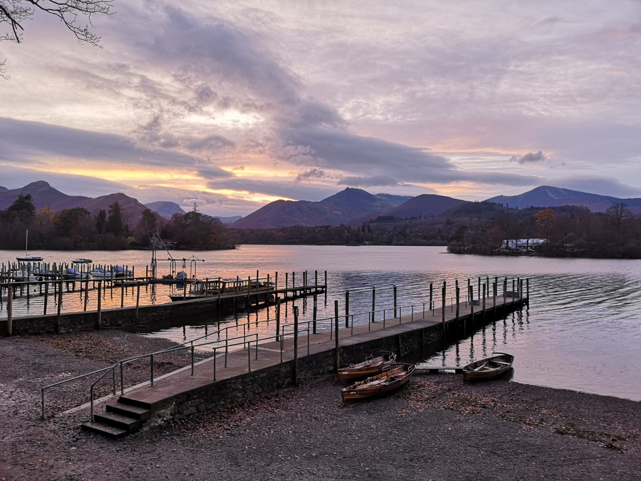 Derwentwater jetties at dusk